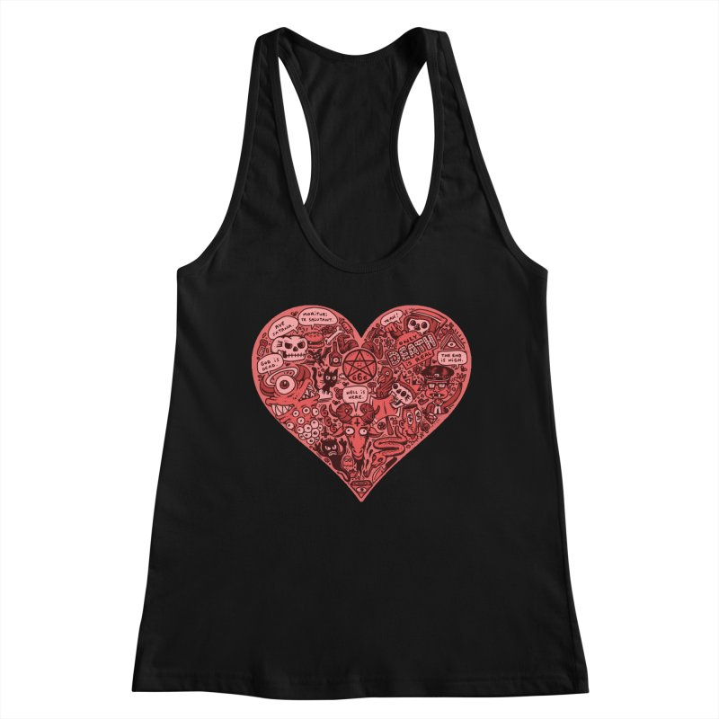 Heart of Darkness Women's Racerback Tank by vtavast's Artist Shop