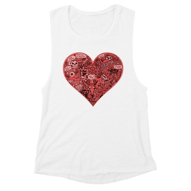 Heart of Darkness Women's Muscle Tank by vtavast's Artist Shop