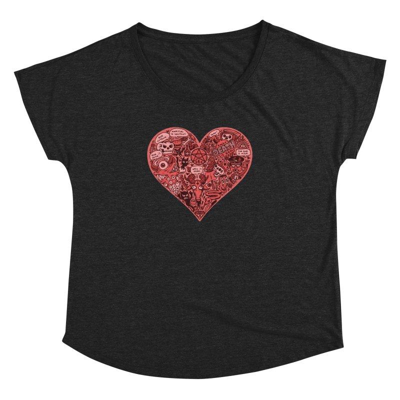 Heart of Darkness Women's Dolman Scoop Neck by vtavast's Artist Shop