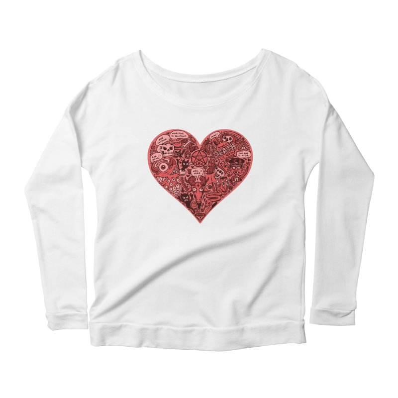 Heart of Darkness Women's Scoop Neck Longsleeve T-Shirt by vtavast's Artist Shop