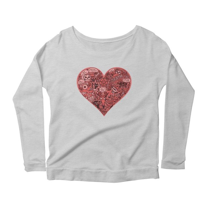 Heart of Darkness Women's Scoop Neck Longsleeve T-Shirt by vtavast's Artist Shop