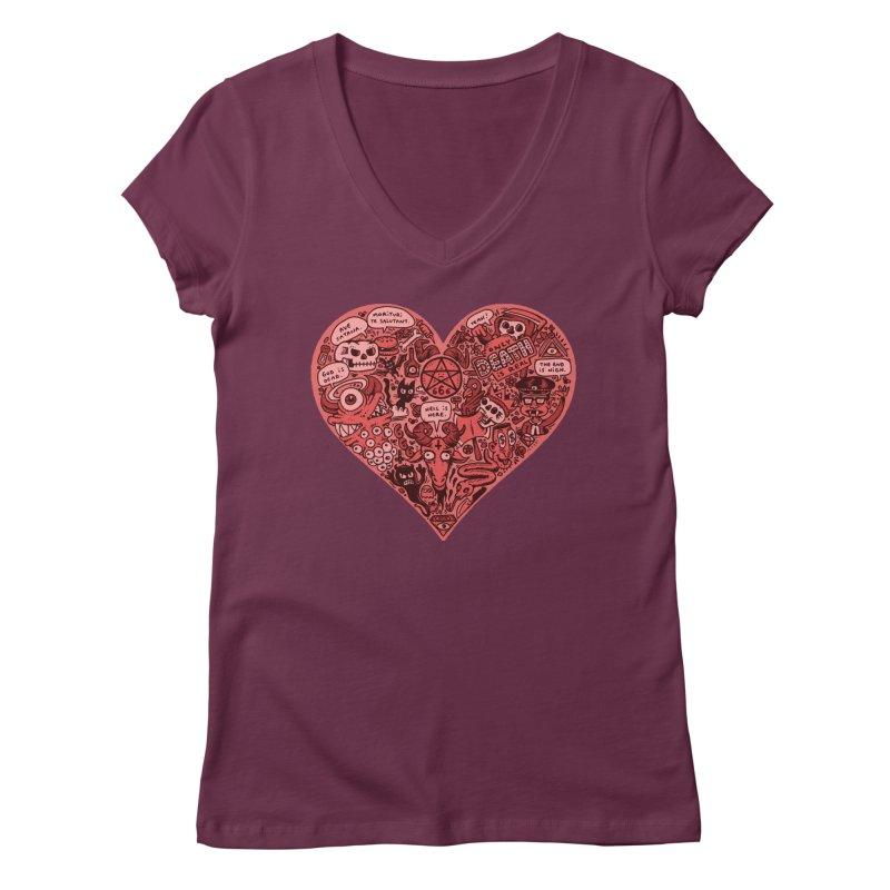 Heart of Darkness Women's Regular V-Neck by vtavast's Artist Shop