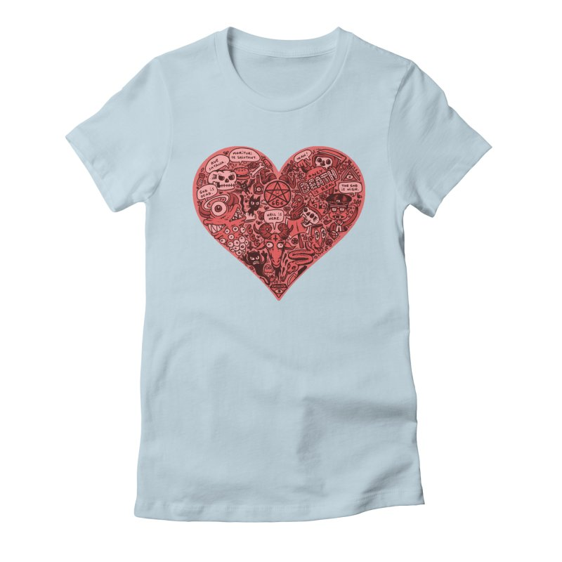 Heart of Darkness Women's Fitted T-Shirt by vtavast's Artist Shop