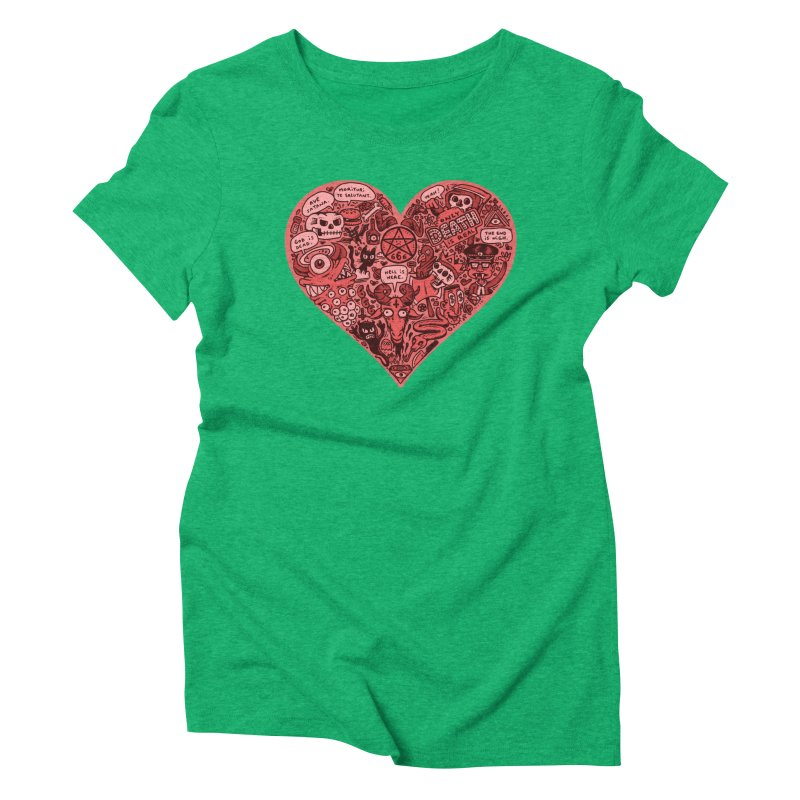 Heart of Darkness Women's Triblend T-Shirt by vtavast's Artist Shop