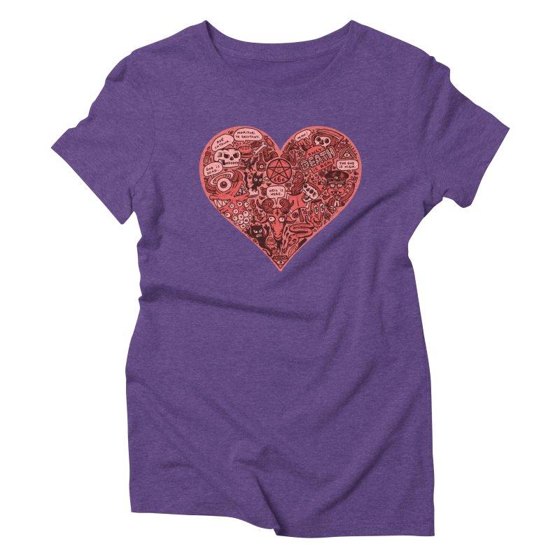 Heart of Darkness Women's Triblend T-Shirt by vtavast's Artist Shop
