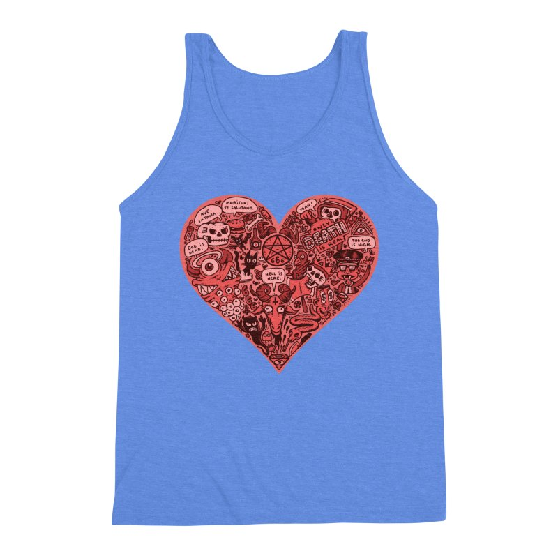 Heart of Darkness Men's Triblend Tank by vtavast's Artist Shop