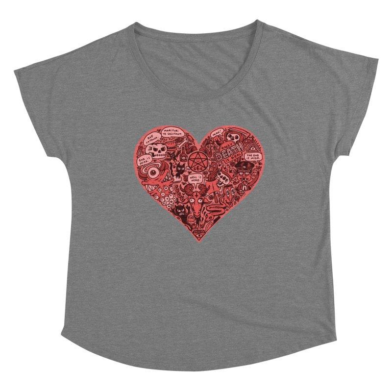 Heart of Darkness Women's Scoop Neck by vtavast's Artist Shop