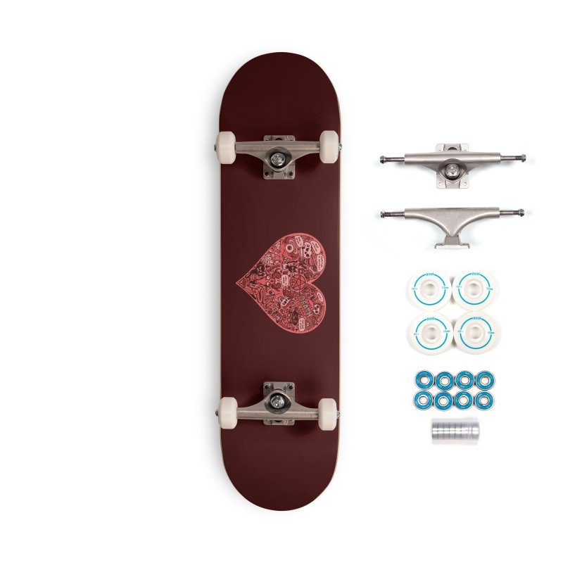 Heart of Darkness Accessories Skateboard by vtavast's Artist Shop