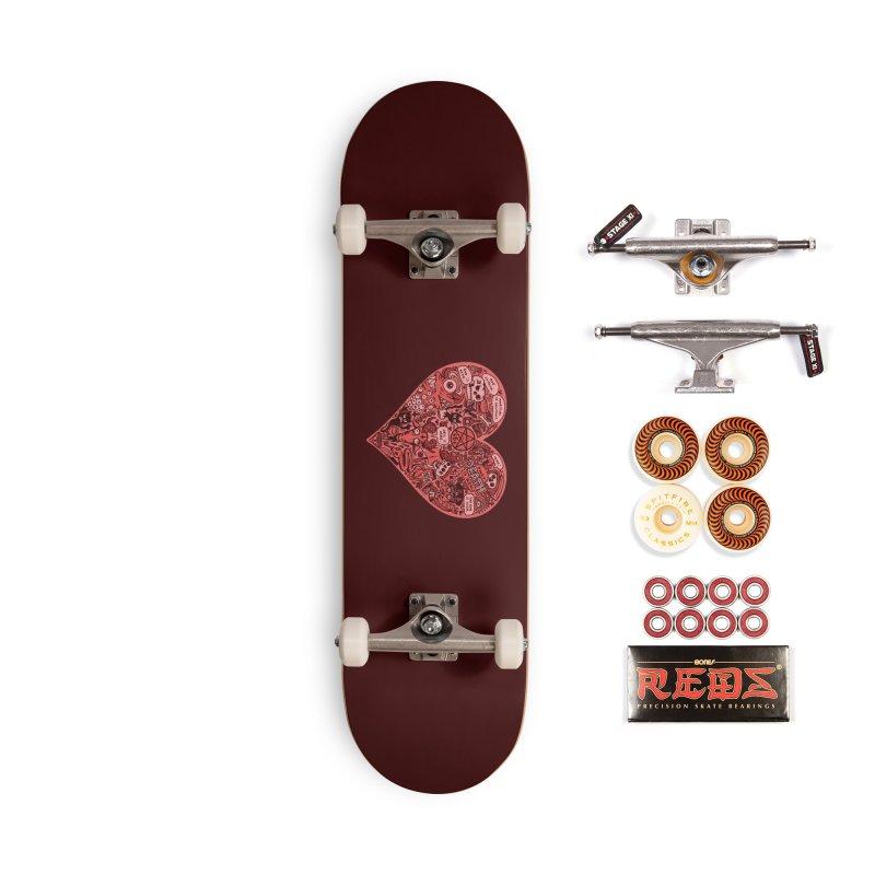 Heart of Darkness Accessories Skateboard by vtavast's Artist Shop