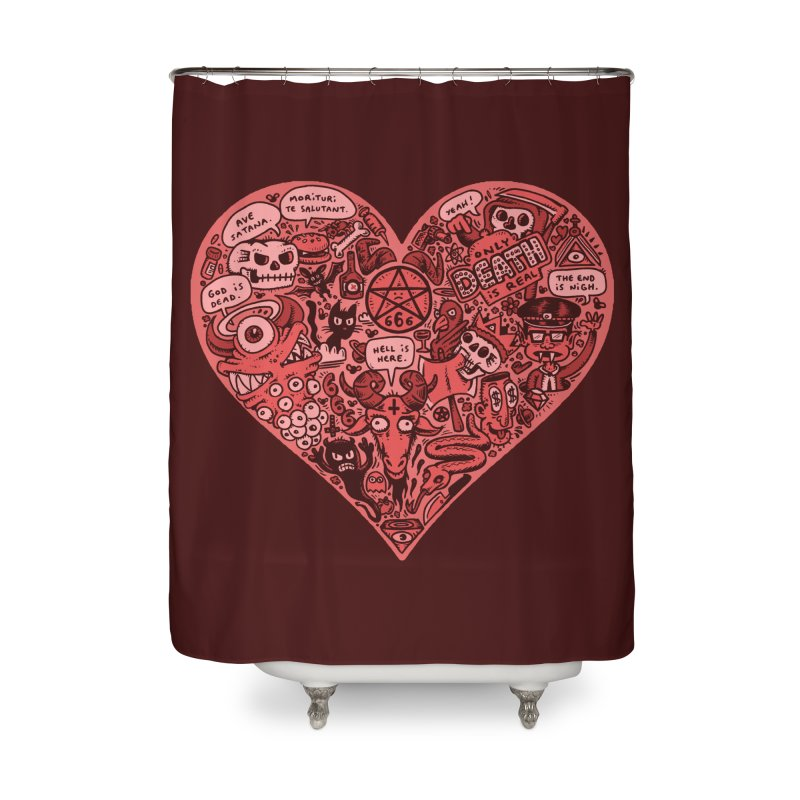 Heart of Darkness Home Shower Curtain by vtavast's Artist Shop