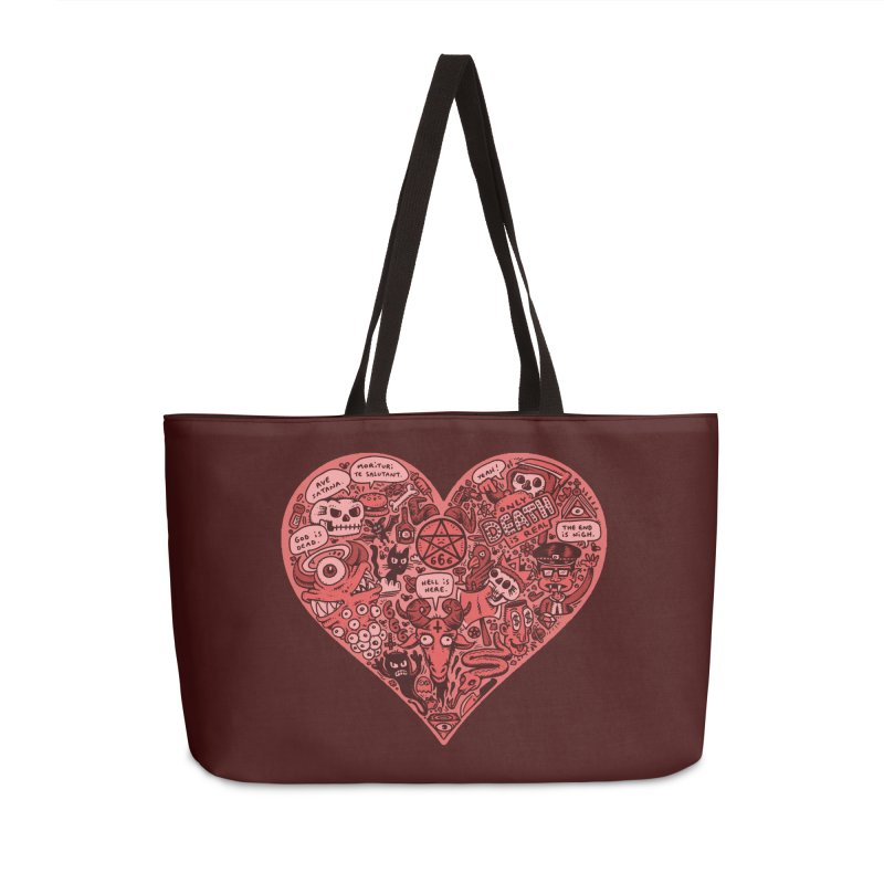 Heart of Darkness Accessories Weekender Bag Bag by vtavast's Artist Shop