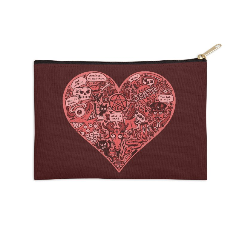 Heart of Darkness Accessories Zip Pouch by vtavast's Artist Shop