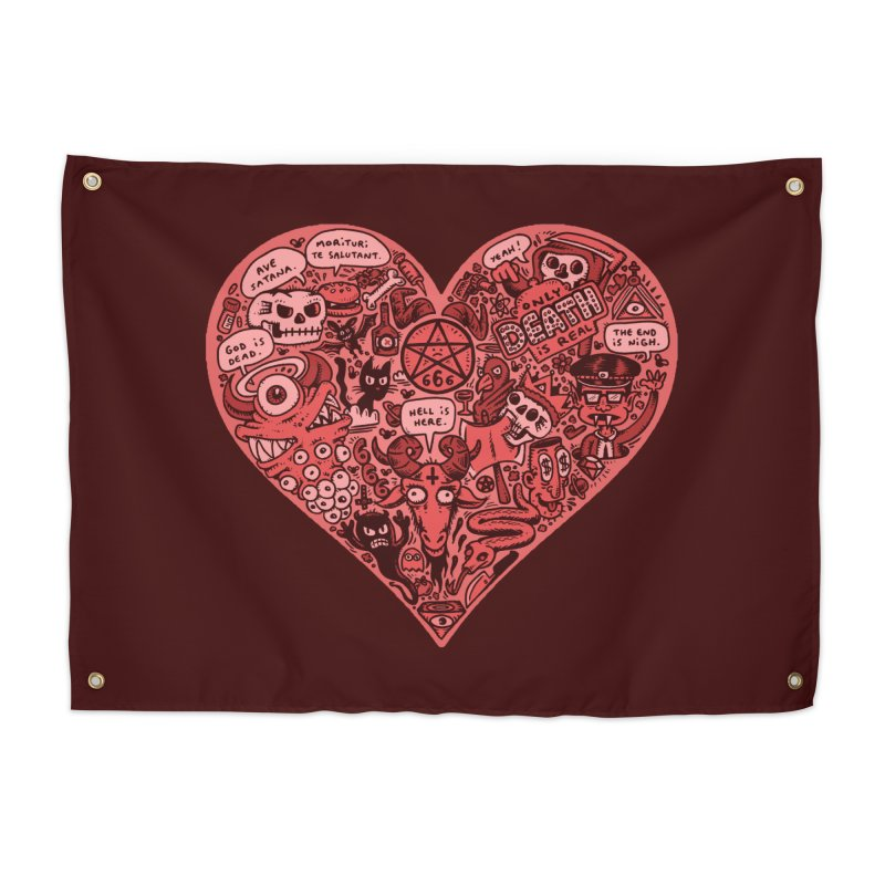 Heart of Darkness Home Tapestry by vtavast's Artist Shop