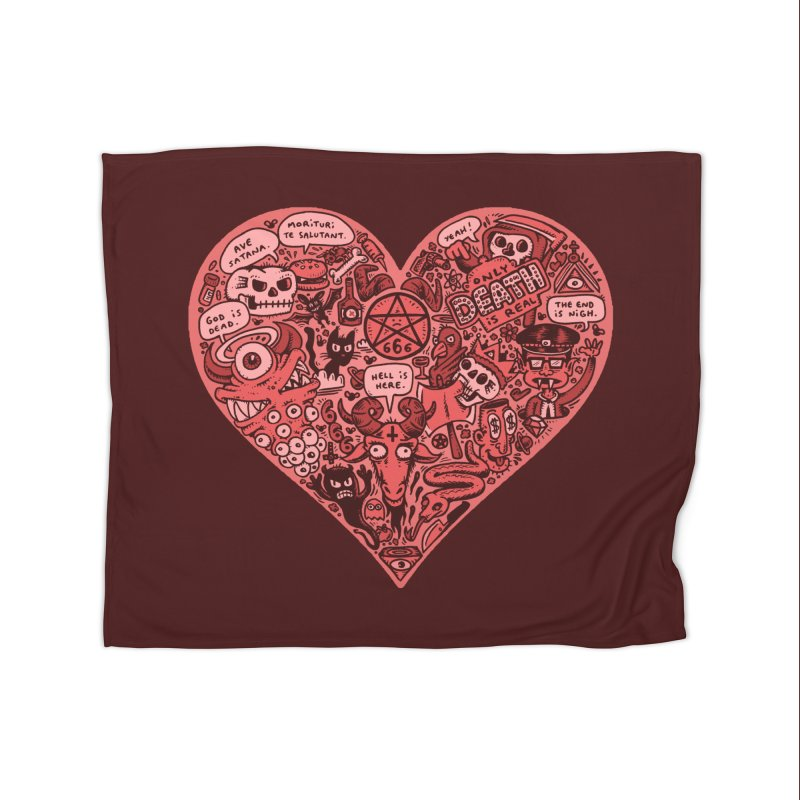 Heart of Darkness Home Fleece Blanket Blanket by vtavast's Artist Shop