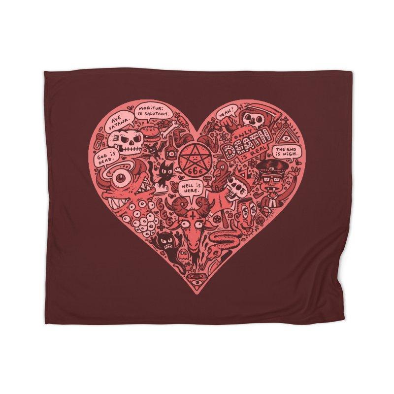 Heart of Darkness Home Blanket by vtavast's Artist Shop