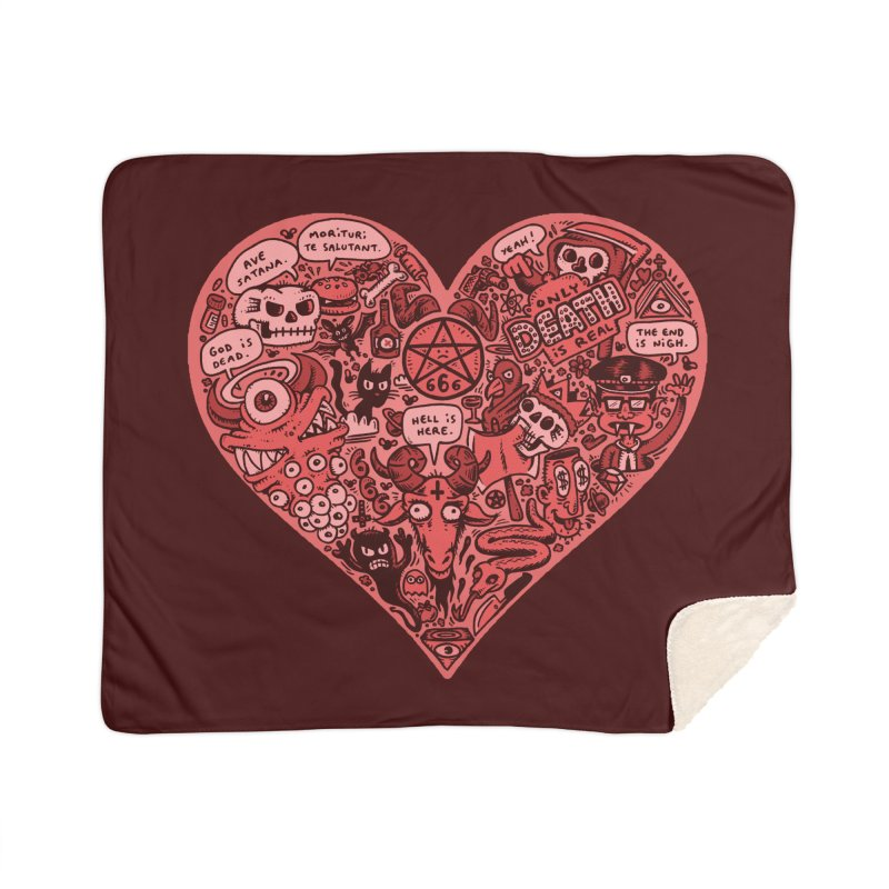 Heart of Darkness Home Sherpa Blanket Blanket by vtavast's Artist Shop