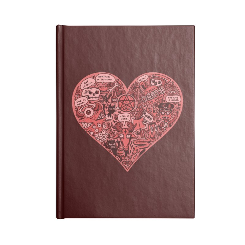 Heart of Darkness Accessories Notebook by vtavast's Artist Shop