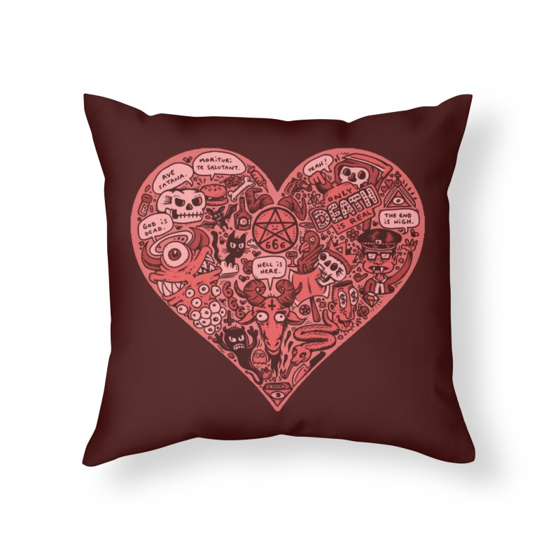 Heart of Darkness Home Throw Pillow by vtavast's Artist Shop