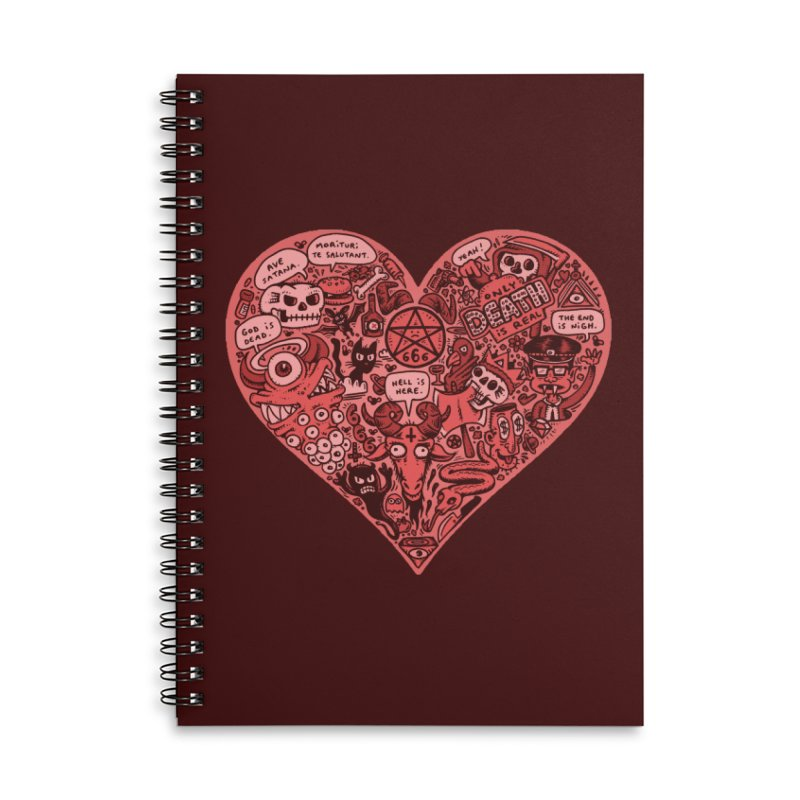 Heart of Darkness Accessories Lined Spiral Notebook by vtavast's Artist Shop