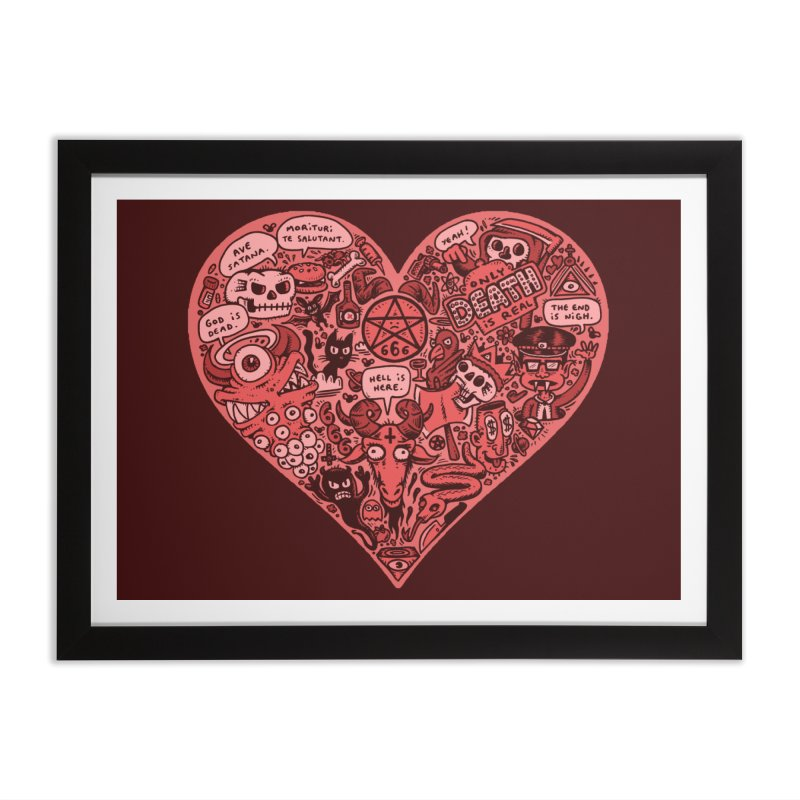 Heart of Darkness Home Framed Fine Art Print by vtavast's Artist Shop