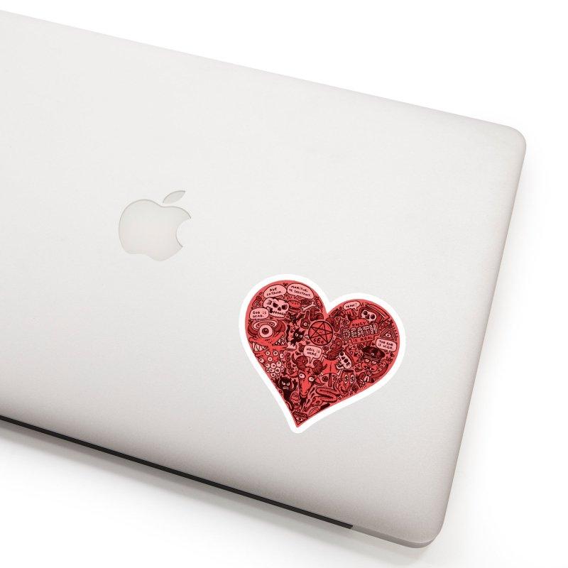 Heart of Darkness Accessories Sticker by vtavast's Artist Shop