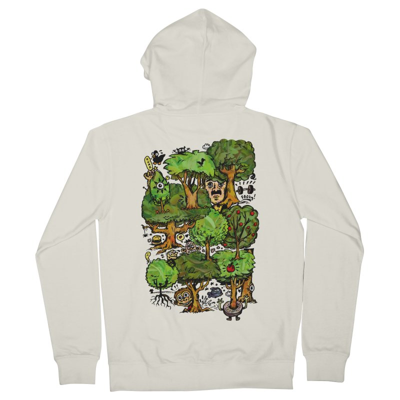 Into the Green Men's Zip-Up Hoody by vtavast's Artist Shop