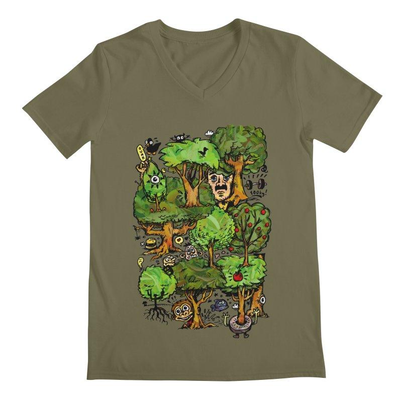 Into the Green Men's Regular V-Neck by vtavast's Artist Shop