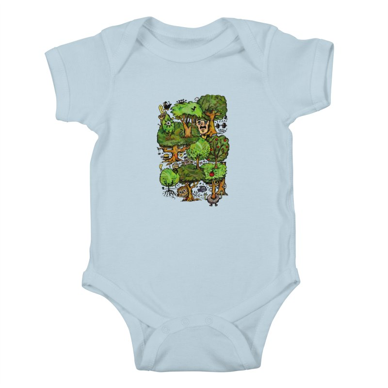 Into the Green Kids Baby Bodysuit by vtavast's Artist Shop