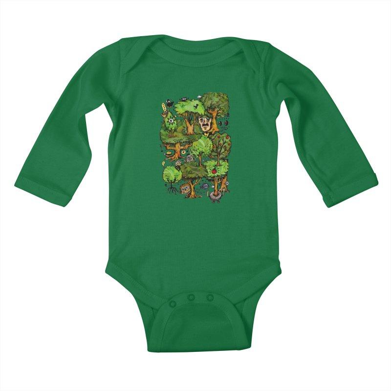 Into the Green Kids Baby Longsleeve Bodysuit by vtavast's Artist Shop