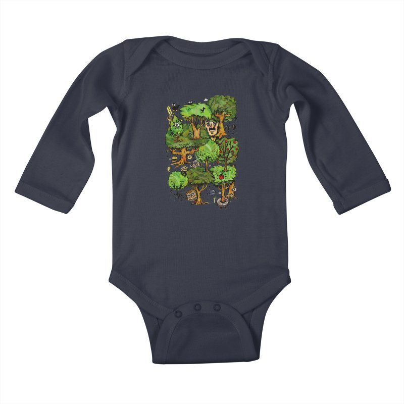 Into the Green Kids Baby Longsleeve Bodysuit by vtavast's Artist Shop