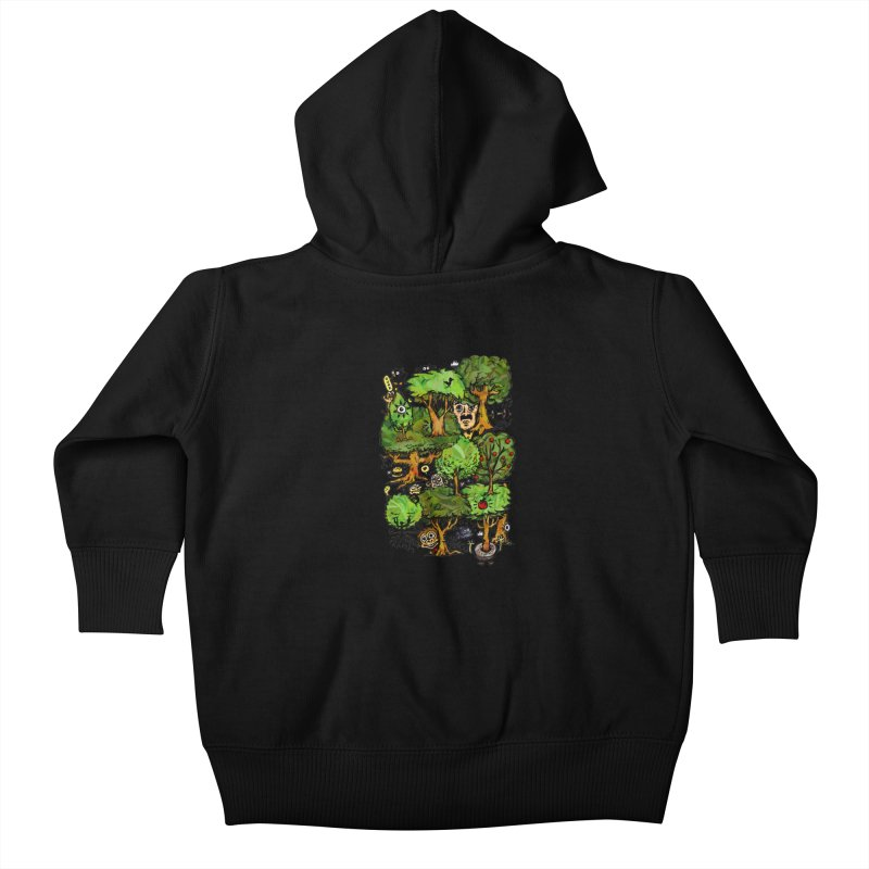 Into the Green Kids Baby Zip-Up Hoody by vtavast's Artist Shop