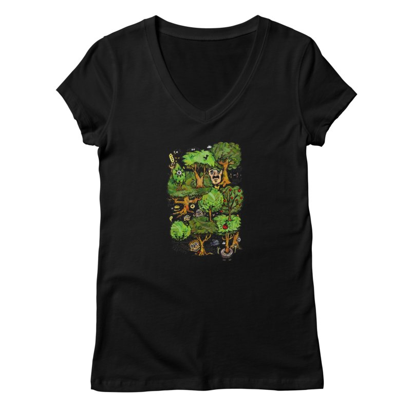 Into the Green Women's V-Neck by vtavast's Artist Shop
