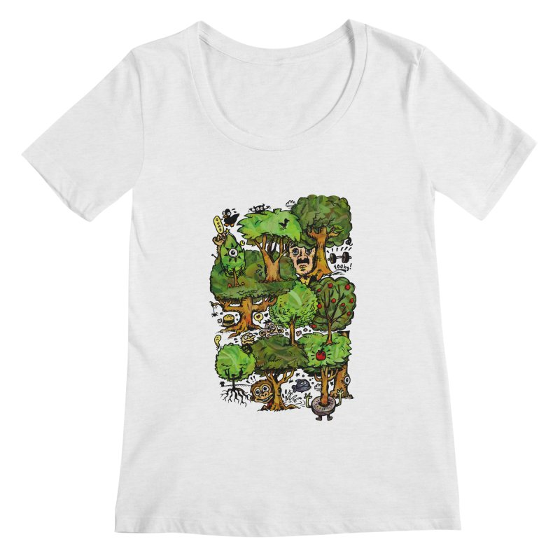 Into the Green Women's Scoop Neck by vtavast's Artist Shop