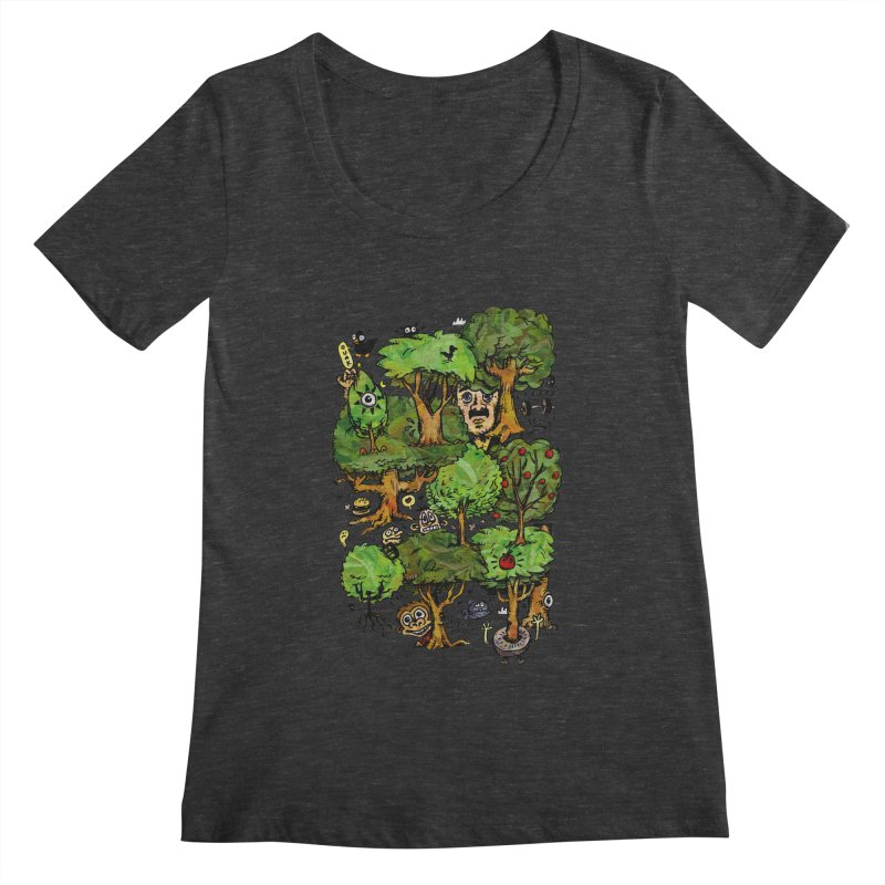Into the Green Women's Scoopneck by vtavast's Artist Shop
