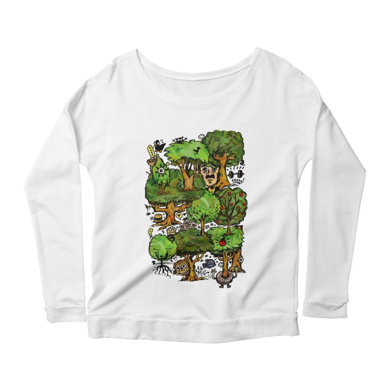 Into the Green Women's Scoop Neck Longsleeve T-Shirt by vtavast's Artist Shop