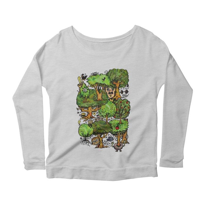 Into the Green Women's Scoop Neck Longsleeve T-Shirt by vtavast's Artist Shop