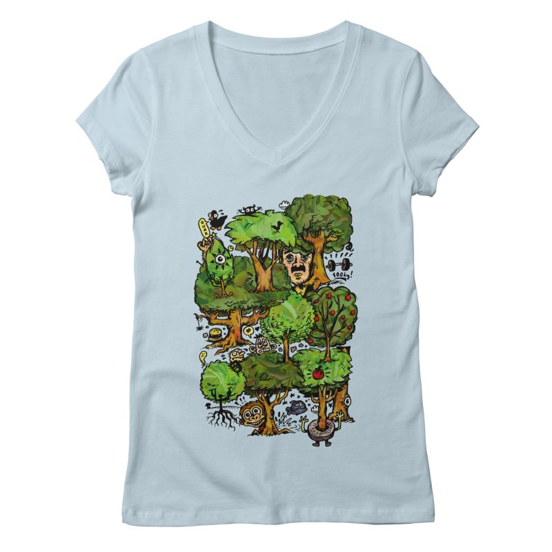 Into the Green Women's Regular V-Neck by vtavast's Artist Shop
