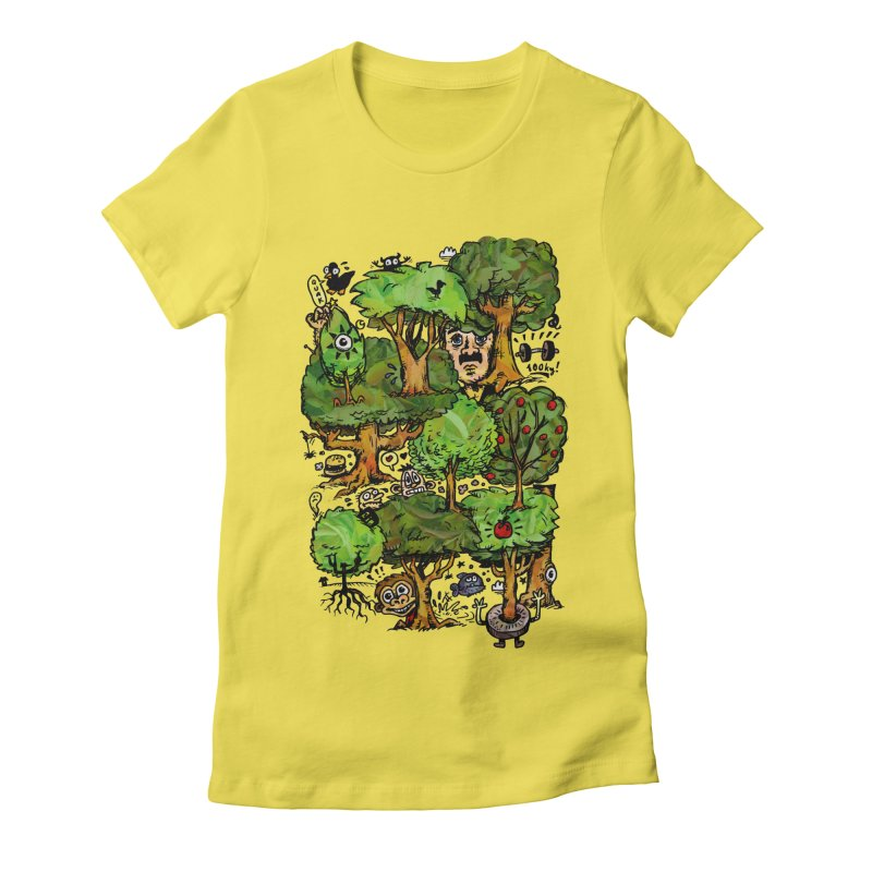 Into the Green Women's Fitted T-Shirt by vtavast's Artist Shop