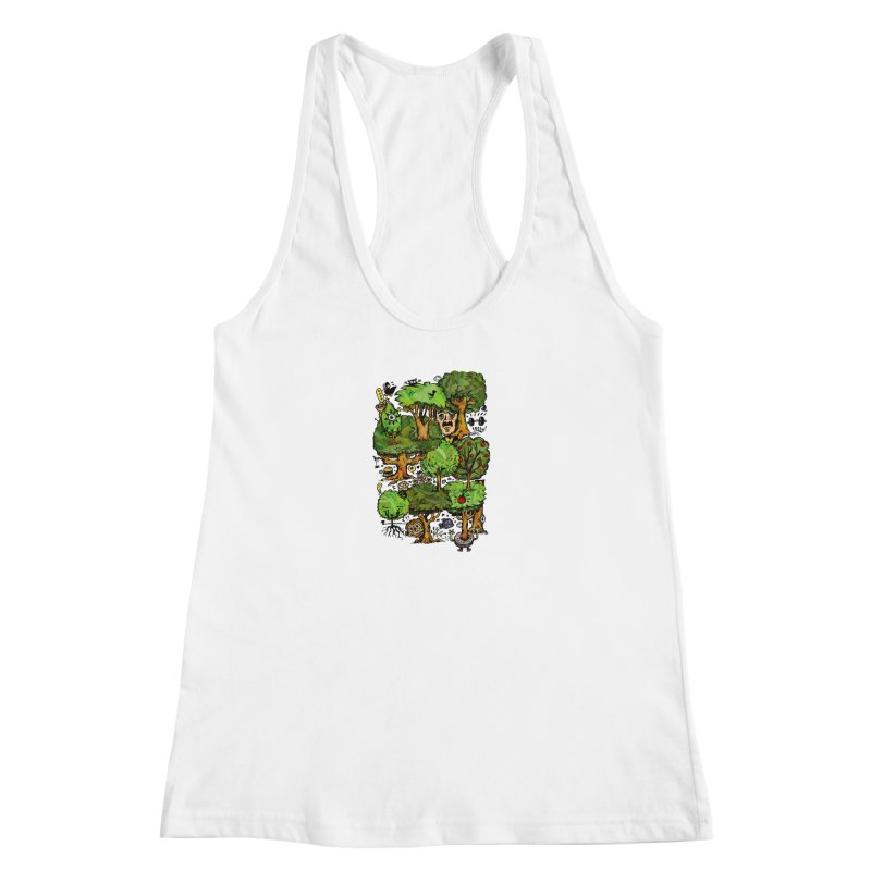 Into the Green Women's Racerback Tank by vtavast's Artist Shop