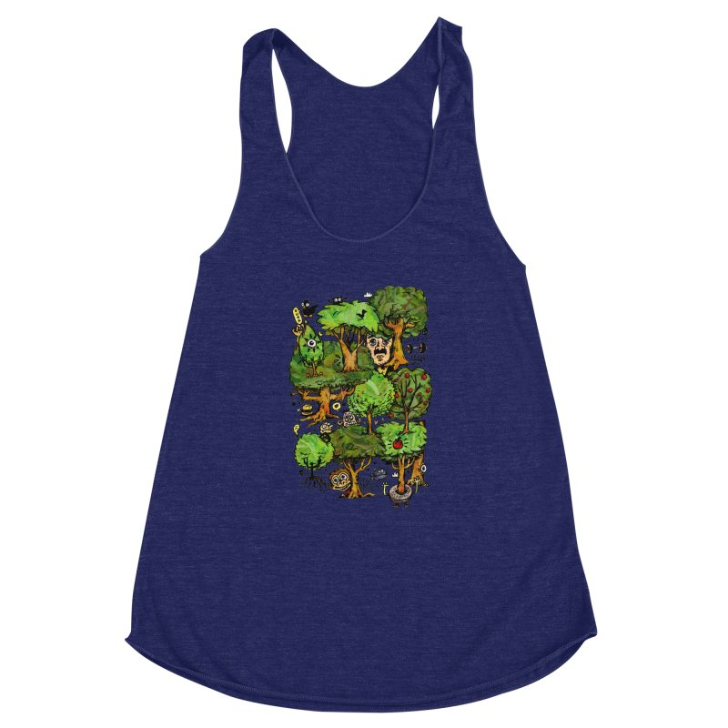 Into the Green Women's Racerback Triblend Tank by vtavast's Artist Shop