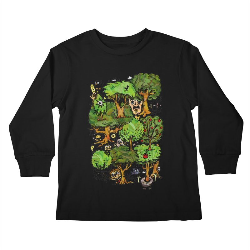 Into the Green Kids Longsleeve T-Shirt by vtavast's Artist Shop