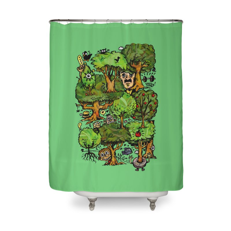 Into the Green Home Shower Curtain by vtavast's Artist Shop