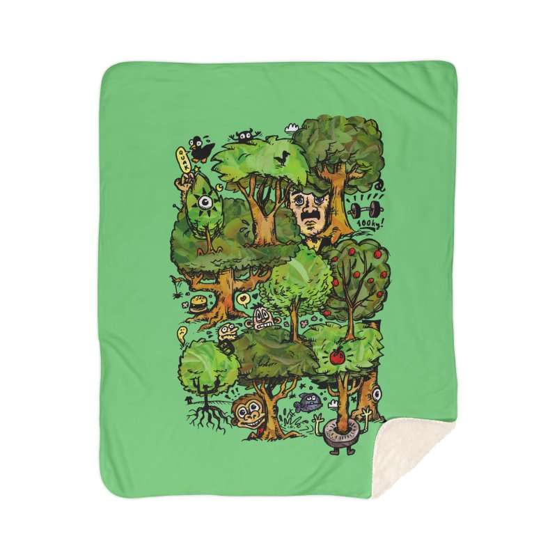 Into the Green Home Sherpa Blanket Blanket by vtavast's Artist Shop
