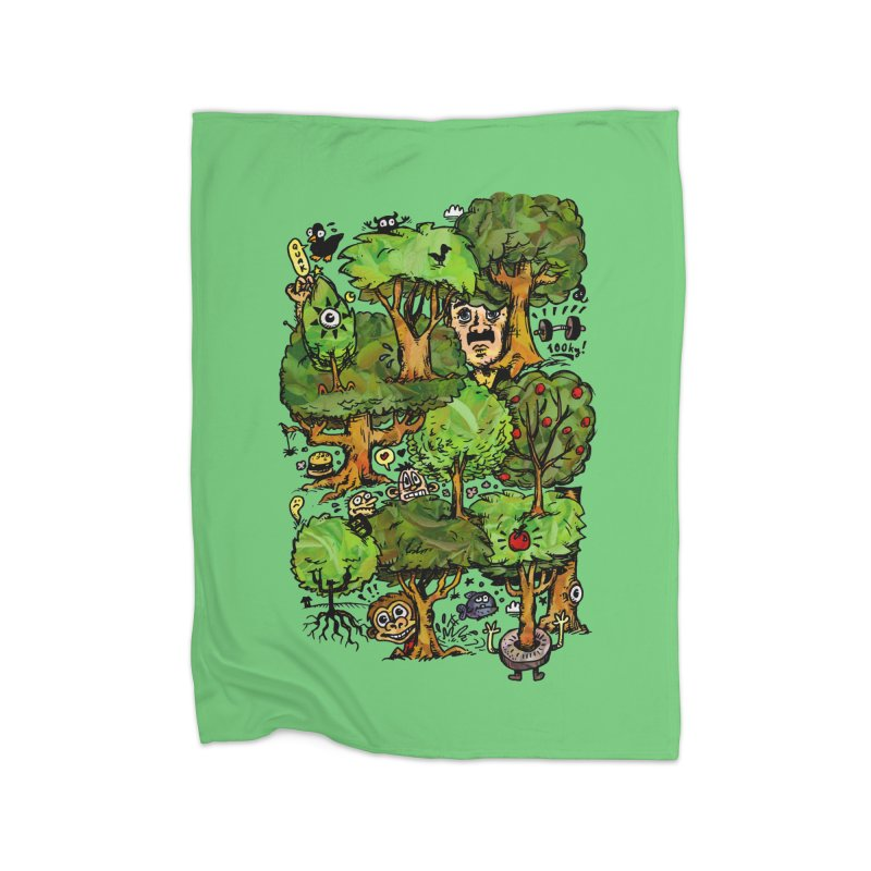 Into the Green Home Blanket by vtavast's Artist Shop