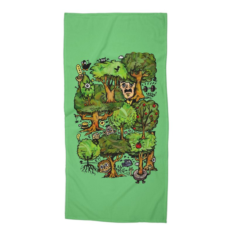 Into the Green Accessories Beach Towel by vtavast's Artist Shop