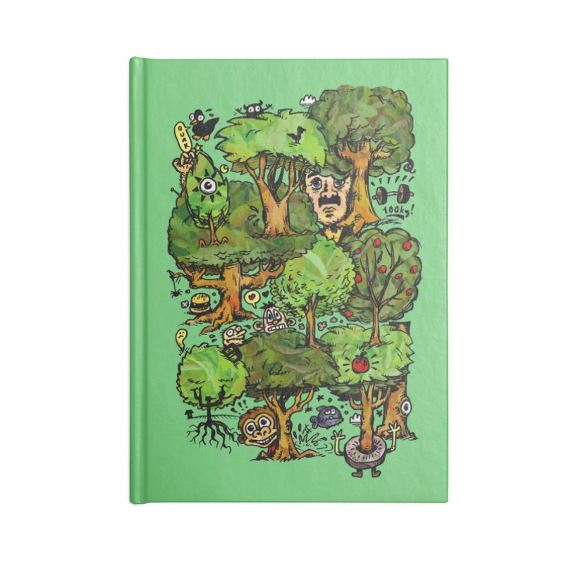 Into the Green Accessories Lined Journal Notebook by vtavast's Artist Shop