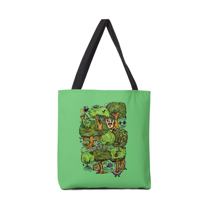 Into the Green Accessories Bag by vtavast's Artist Shop