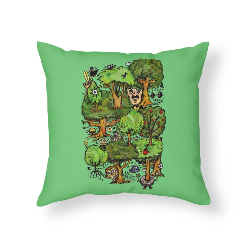 Into the Green Home Throw Pillow by vtavast's Artist Shop
