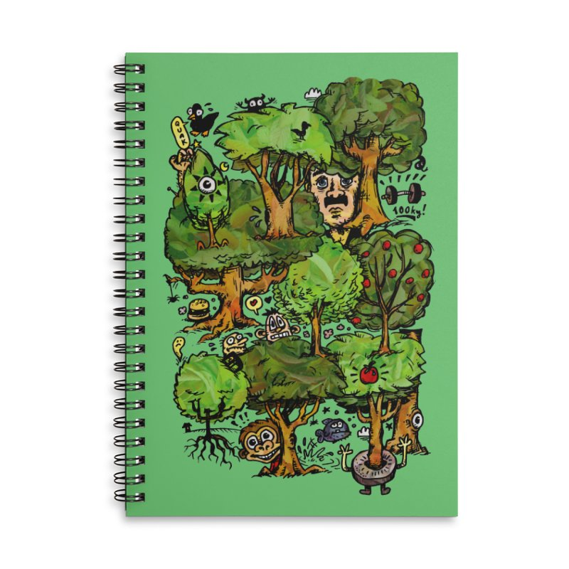 Into the Green Accessories Lined Spiral Notebook by vtavast's Artist Shop