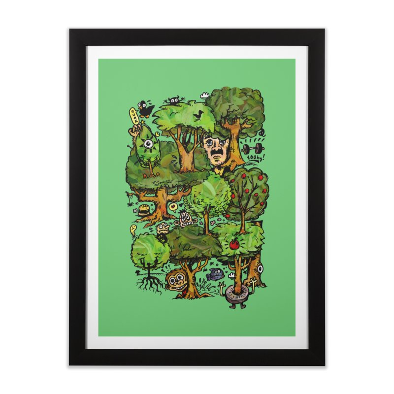 Into the Green Home Framed Fine Art Print by vtavast's Artist Shop